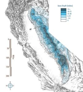 Sierra snow depth